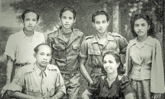 Gerdy, parents and brothers
